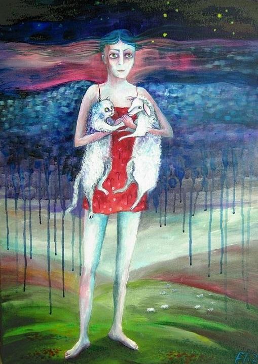 Иллюстрация к статье про Лилит в знаках зодиака. Овен