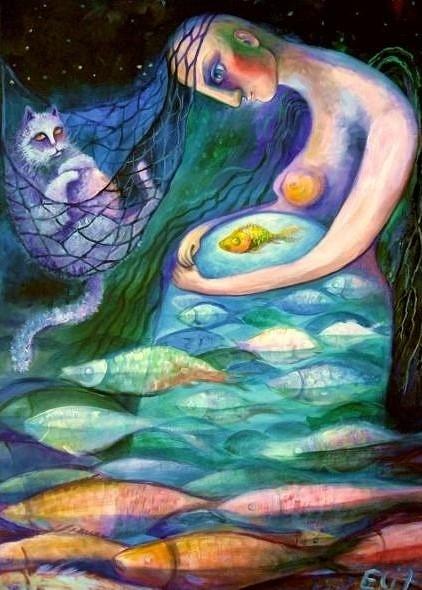 Знаки Зодиака. Иллюстрация к статье о Лилит в Рыбах