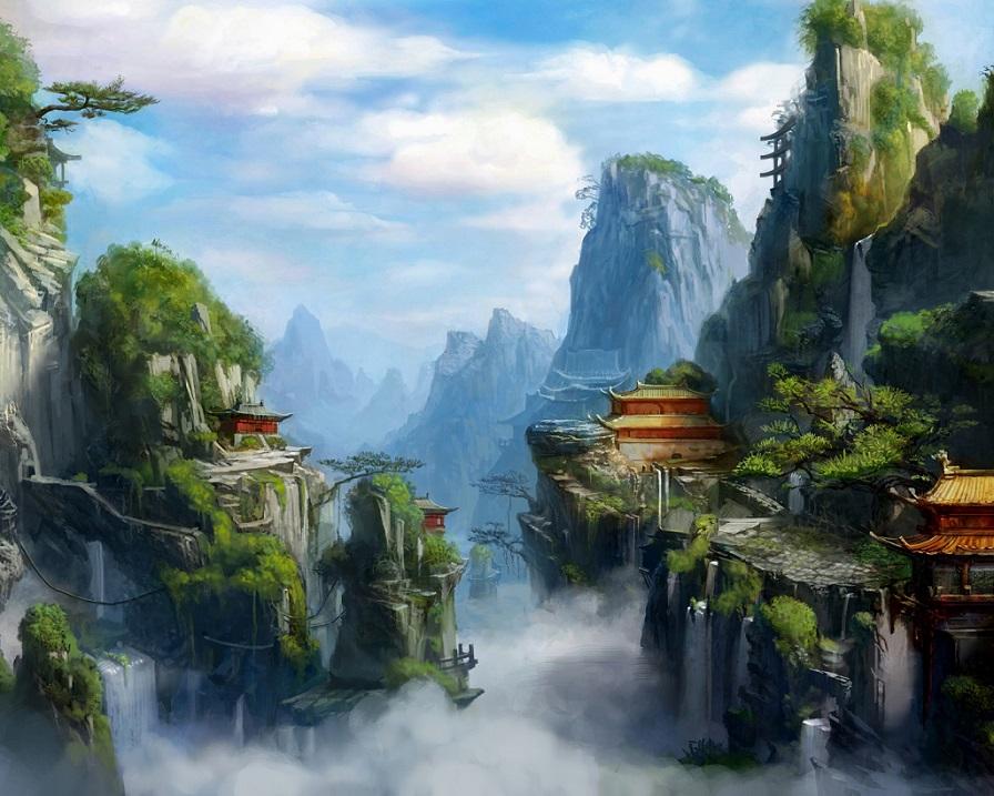 Даосские секреты. Китайские горы.Картина