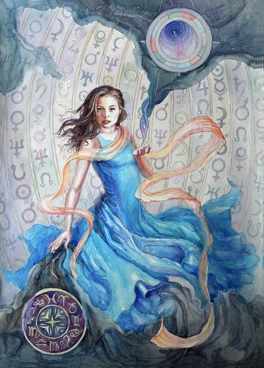 Портрет для девушки-астролога