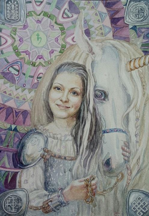 Волшебные портреты от художника Натальи Слугиновой